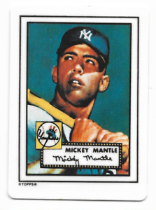 Details About Mickey Mantle 1990 Hamilton Collection Porcelain Card 1952 Topps Hof M36