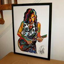 Joe Satriani, Satch, Guitar Player, Guitarist, Hard Rock Blues Rock POSTER w/COA