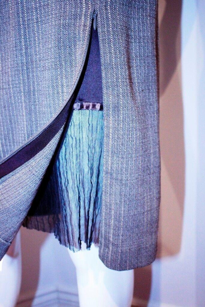 blueMARINE Straight RUNWAY Slit DRESS Zip BROWN  WOOL Blend Blend Blend 6  600 79c527