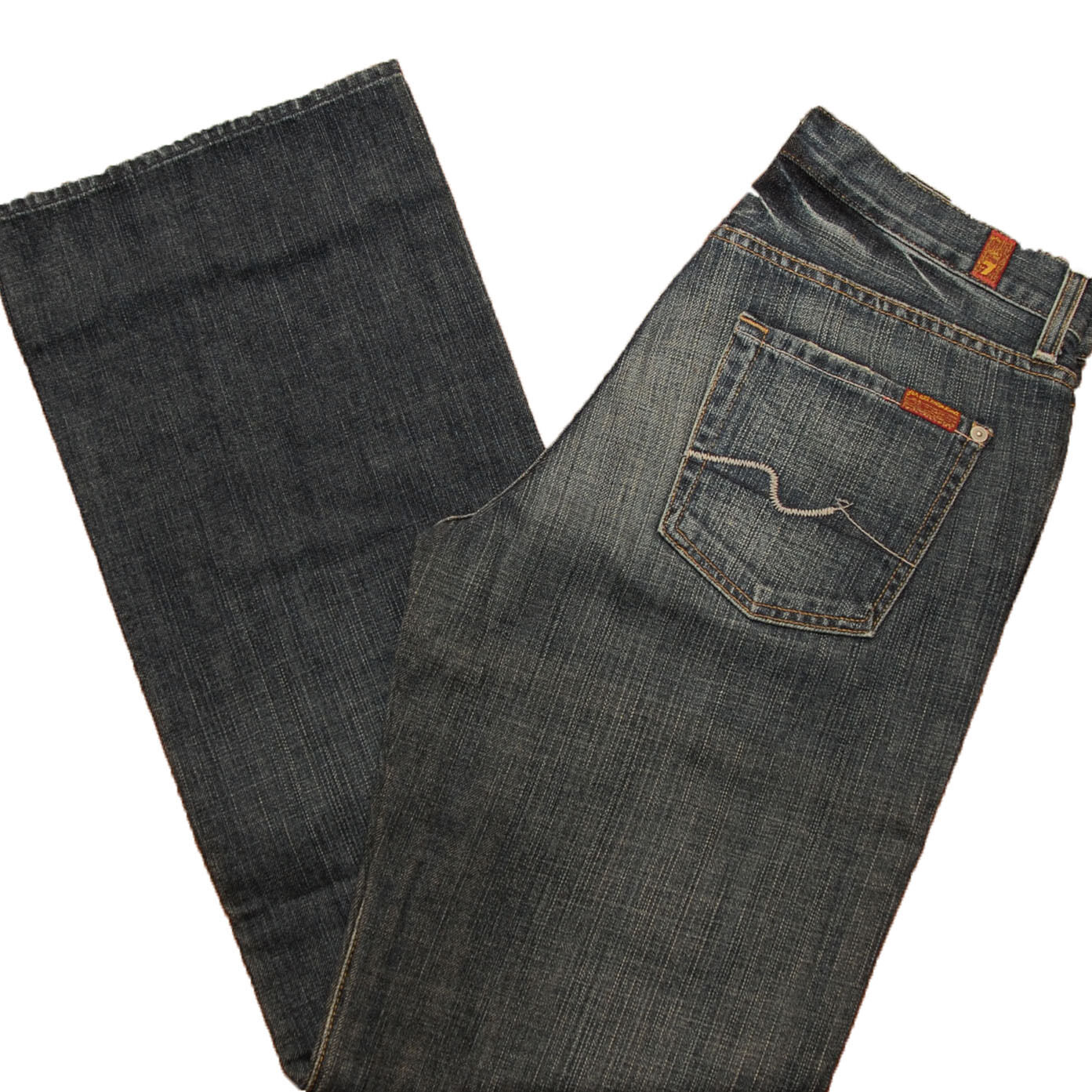 7 For All Mankind Mens Jeans Relaxed Fit 371u Classic Dark Wash 28x32 T521371