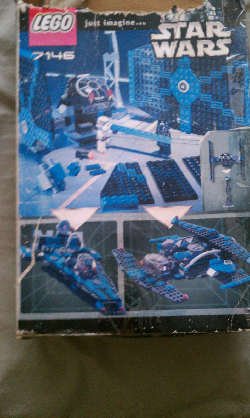 Lego Star Wars Episode IV-VI TIE Fighter (7146) With Life on Mars 7310 Mono jet