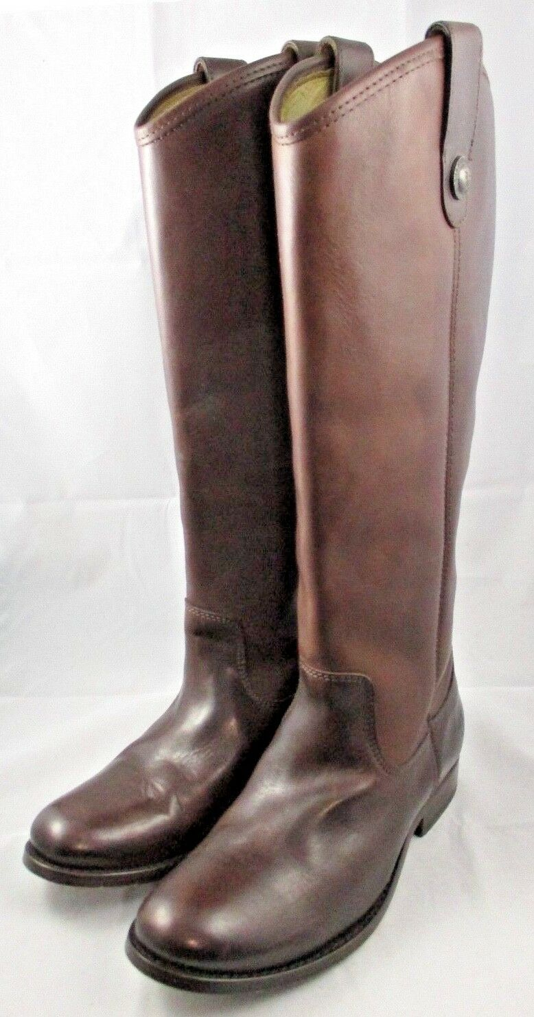 Women's FRYE Melissa Button Boot DARK BROWN Leather SIZE 5.5 NEW without BOX