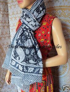 Women Cotton Long Sarong Indian Hand Block Print Fabric Dupata Stole Scarf Gift