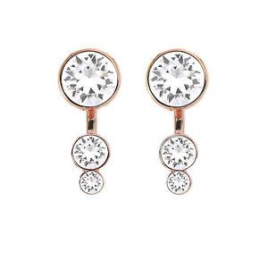5ca3868bc Slake Dot Princess Rose Tone Earring Jackets Made with Swarovski ...