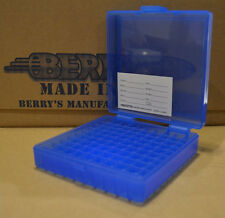 9 mm / 380 - 100 round ammo case / box (BLUE COLOR) Berrys mfg. 9 mm BRAND NEW