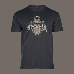 T-Shirt-Death-Racer-Bobber-Chopper-Motorcycle-Biker-Kustom-Ton-Up-ACE-grau-5XL