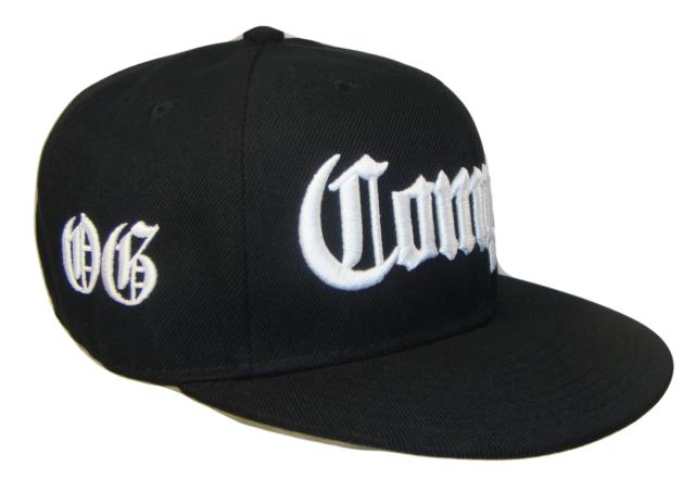 3c57704df54 Black White Compton OG Los Angeles Flat Bill Retro Snapback Cap Caps Hat  Hats