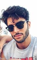 Retro Half Frame Clubmaster Classic WayfarWomen Men Guys Sunglasses
