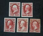 CKStamps: US Stamps Collection Scott#O10P3-O14P3 Unused H NG Proof Thin