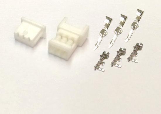 Male Header /& crimp terminal 100 SETS JST 1.25mm 3-Pin Female Connector Housing