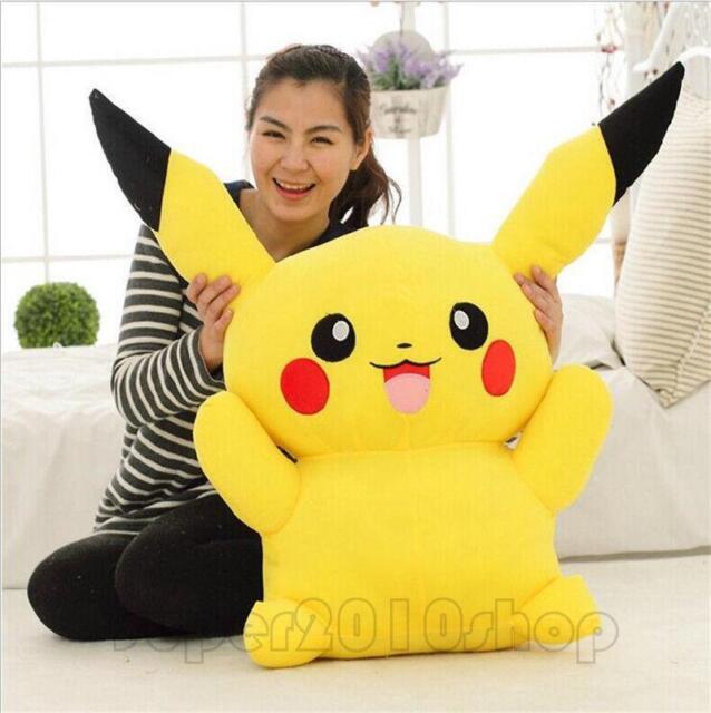 Big Digimon Pikachu Pokemon go Plush Giant Large Stuffed Toy Doll Pillow 60cm A+