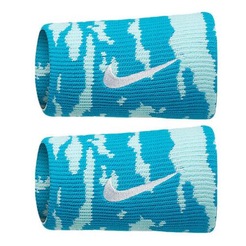 New Nike Adult Unisex Camo Doublewide Wristbands Blue