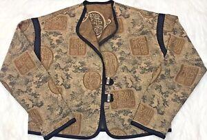 alle reversibile L da metallo Cappotto in Cappotto donna beige ispirato Taglia reversibile Xl donne a61qwI