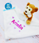 Personalised baby comforter blanket newborn gift baby name mumbles comforter