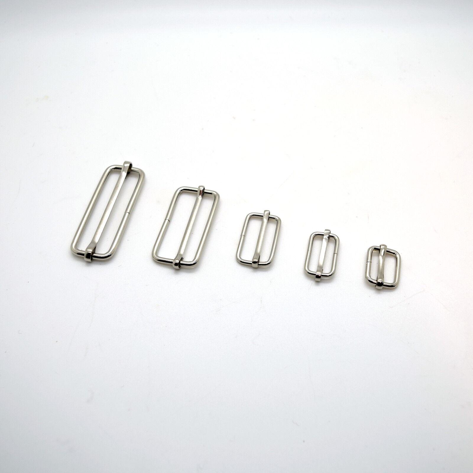 Metal Sliding Bars Buckles Straps for Webbing Strap Tape Craft 16 20 25 40 50 mm