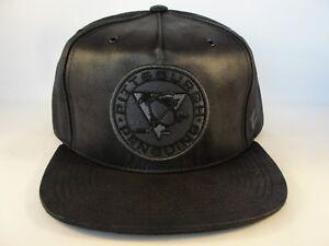 Image is loading Pittsburgh-Penguins-NHL-Zephyr-Snapback-Hat-Cap-Black- 5ce6fbe68635