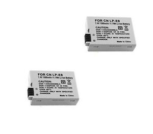 TWO-2X-LP-E8-Batteries-for-Canon-EOS-EOS-Rebel-T2i-REBEL-T3i-550D-EOS-600D