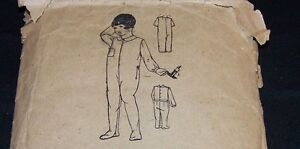 ANTIQUE CHILD PATTERN-SUPERI<wbr/>OR #7340-GIRL/BOY AGE 4-NIGHTDRAWERS<wbr/>-DROP SEAT-PJ&#039;S