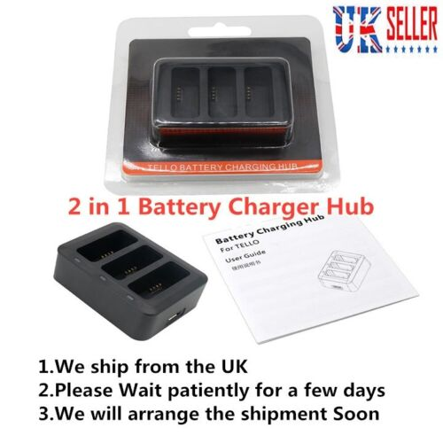 UK# 3 in 1 Multi Smart Battery Charger Hub Battery Charging For DJI Tello Drone