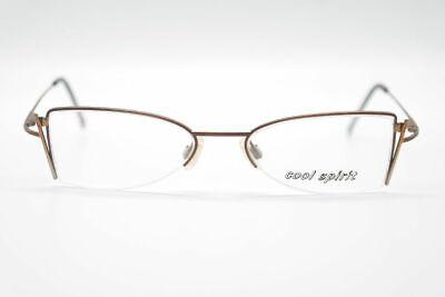 Flight Tracker Vintage Cool Spirit 1004 F122 48[]17 131 Braun Halbrand Brille Eyeglasses Nos