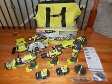**NEW** Ryobi ONE+ 18 Volt Lithium Ultimate Combo Kit 6 Piece Tool Set FREE SHIP