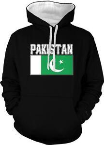 Islamic Republic of Pakistan Text Flag Pakistani Pride 2-tone Hoodie Pullover
