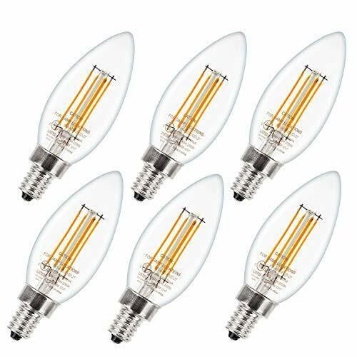 6pcs E12 Led Candelabra Bulb 4 5w Warm White Candle Bulbs 2700k Ac110v Ul Listed