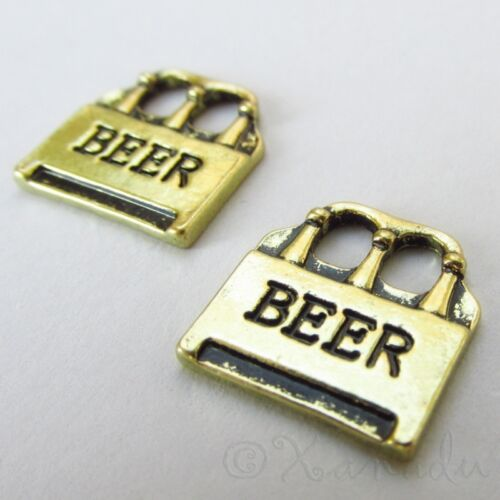20PCs Beer Charms Wholesale 14mm Antique Silver Plated Pendants C5112-5 10