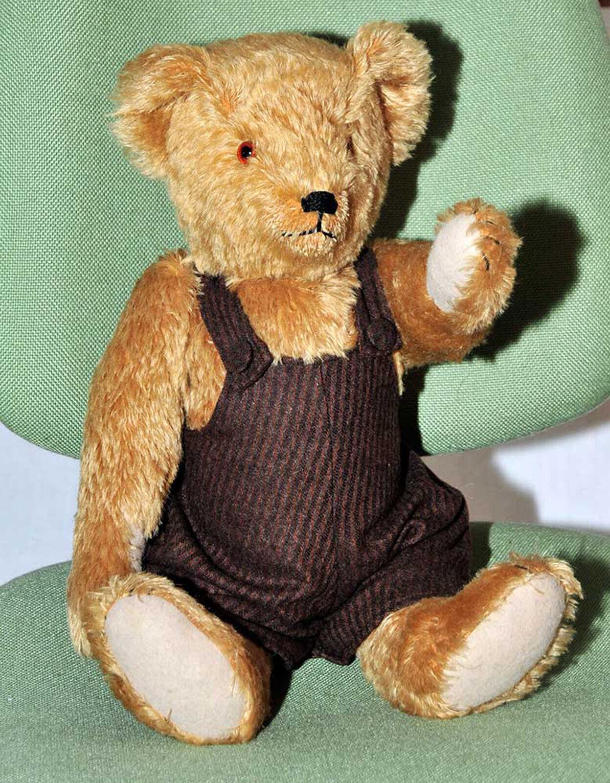 Teddybär mit brauner Hose und Stimme Stimme Stimme Mohair 46 cm 66e3b8