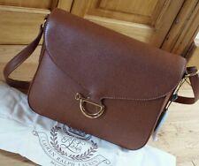 BNWT Polo Ralph Lauren 100 % Cow Leather Newbury Shoulder Bag Tan Colour