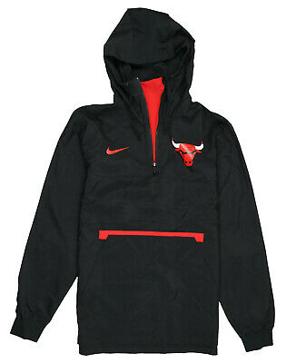 cráter Interrupción ensayo  Nike Jacket NBA Chicago Bulls Woven Half Zip Black Men Size Medium for sale  online   eBay