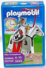RITTER CHRISTOPHER Limited Edition Playmobil 3699 v`10 zu Ritterburg OVP NEU RAR