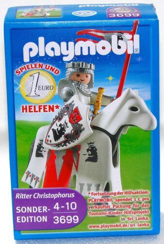 Chevaliers Christopher Limited Edition Playmobil 3699 v`10 à Ritterburg Neuf dans sa boîte Neuf RAR