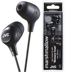 4821414a411 JVC HA-FX38 BLACK Marshmallow In-Ear Headphones Tangle-Free Original ...