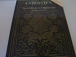 Auction-Catalog-Christie-039-s-Printed-Books-amp-Manuscripts-Wednesday-9-June-1999
