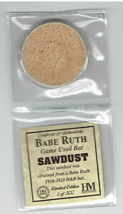 Babe-Ruth-Highland-Mint-Game-Used-Bat-Sawdust-Limited-Edition-1-of-500