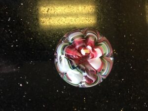 "Vintage Joe St Clair Blown Glass ""Art Glass"" paperweight, 1970's era"