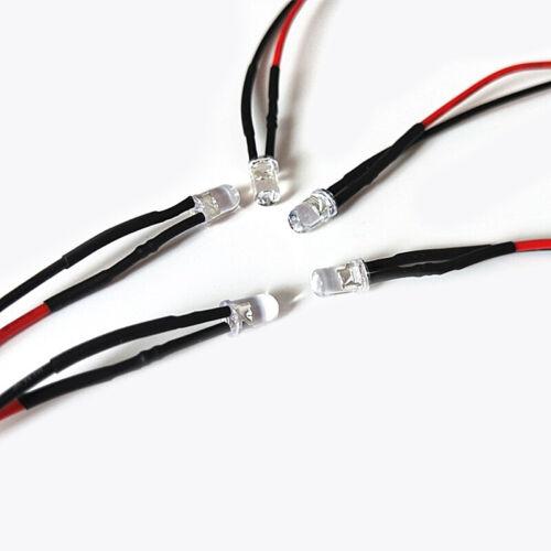 5pcs 3mm Pre-Wired LEDs Bulb Ultra Bright 2V 3V 5V 9V 12V 24V 48V 110V 220V