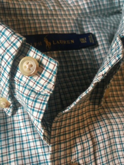 Polo Ralph Lauren Men Shirt Long Sleeve Button Plaid Classic Fit 3XLT Tall NWOT