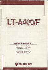 2004 SUZUKI  ATV 4 WHEELER LT-A400/F OWNERS MANUAL  (105)