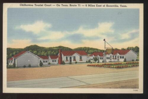 Postcard Knoxville TN Chilowee Motor Court view 1930's