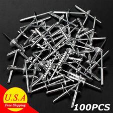 100 Large Flange Aluminum Pop Rivets 316 X 34 Big Head Steel