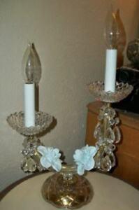 Antique Italian Venetian Candelabra Lamp Murano Opaline