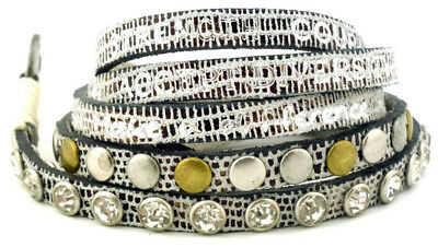 Good Works Make A Difference Wrap Around Divine Exotic Leather Bracelet Studs Ebay