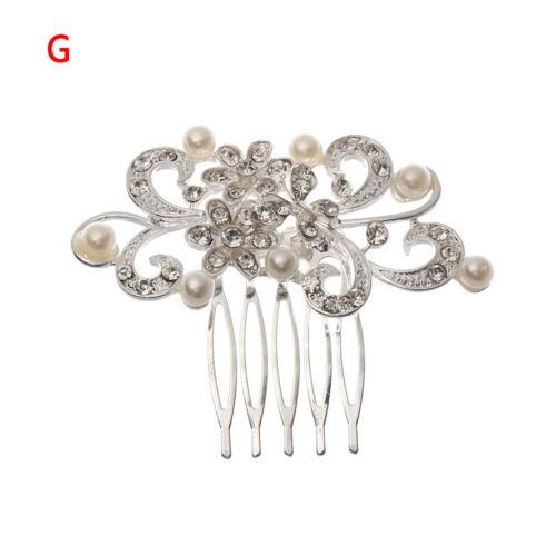 Crystal  Flower Hair Ornaments Bridesmaid Hairpins Bridal Hair Comb Headpieces