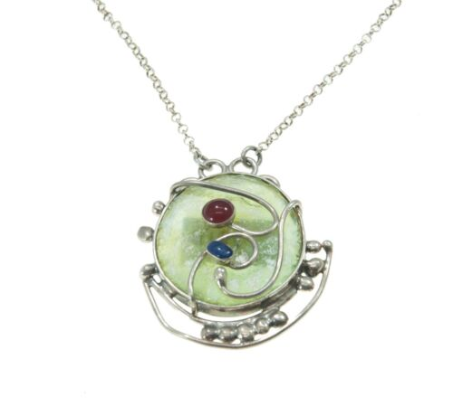 New Roman Glass Pendant Authentic /& Luxurious With Certificate from Jerusalem