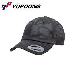 Besticktes Baseball Cap Elch Camouflage Schwarz