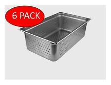 Starkcook 6 Pack Steam Table Pan Full Size Stainless Steel Stpf246p