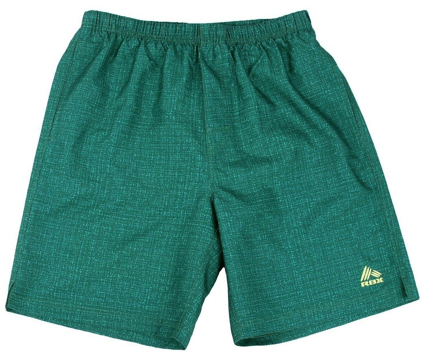 RBX Gym 'N Swim Men's Compression Lined Bathing Fitness Trunks Shorts S Grn NWT