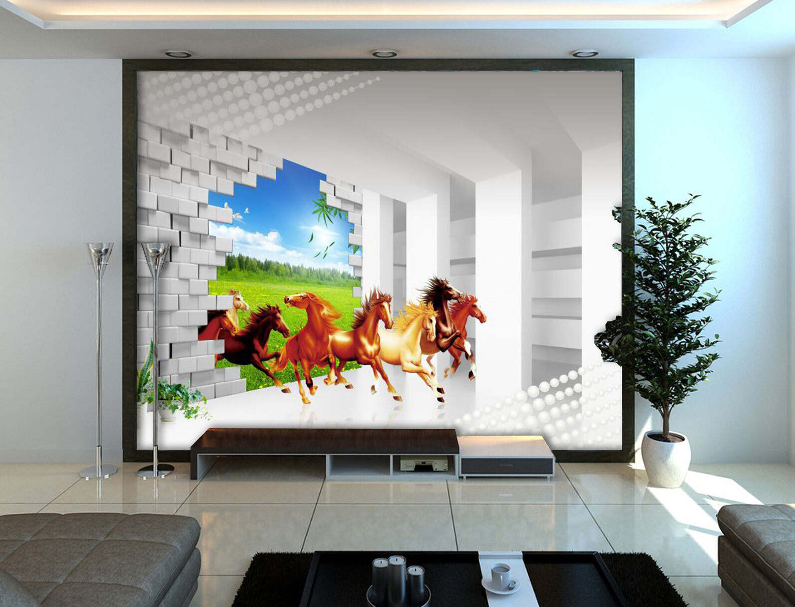 3D Horse Animal Nature 639 Wall Paper Wall Print Decal Wall AJ WALLPAPER CA